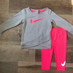 Nike Dri-Fit long sleeve shirt and pants 12M